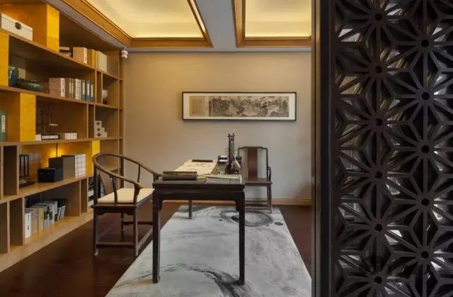 中山万科柏悦湾别墅-新中式家具软装一体化