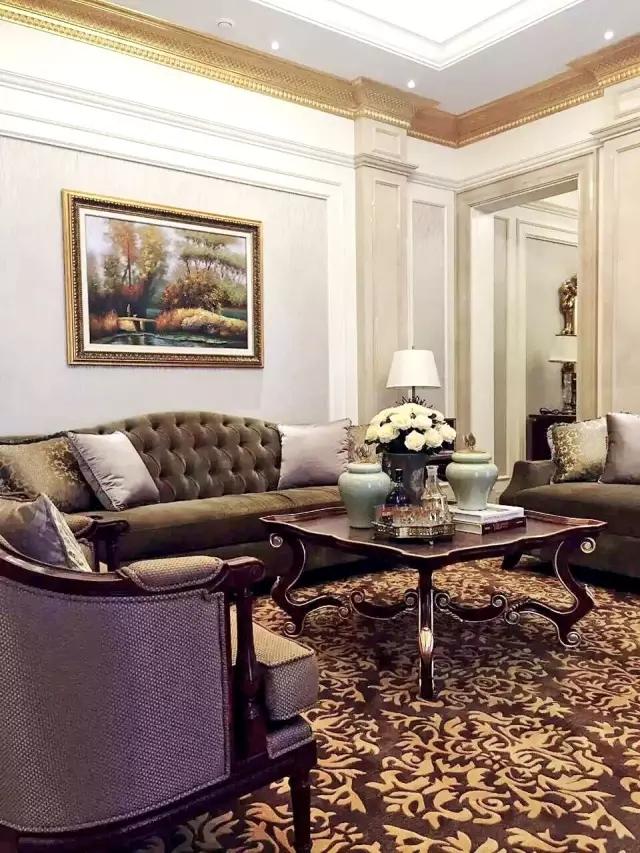 北苑六号新古典风格别墅客厅