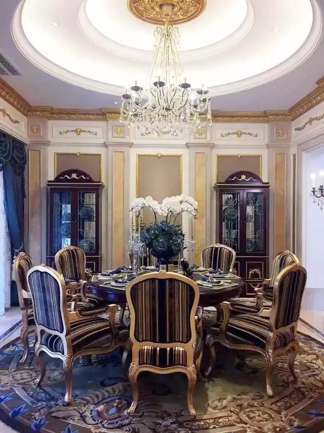 北苑六号新古典风格别墅餐厅