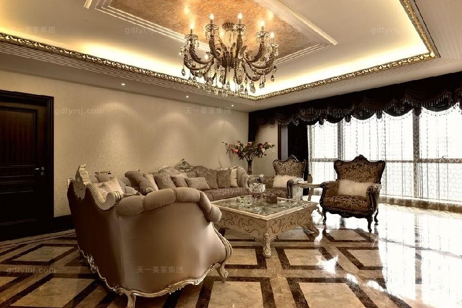 奢华新古典风客厅1