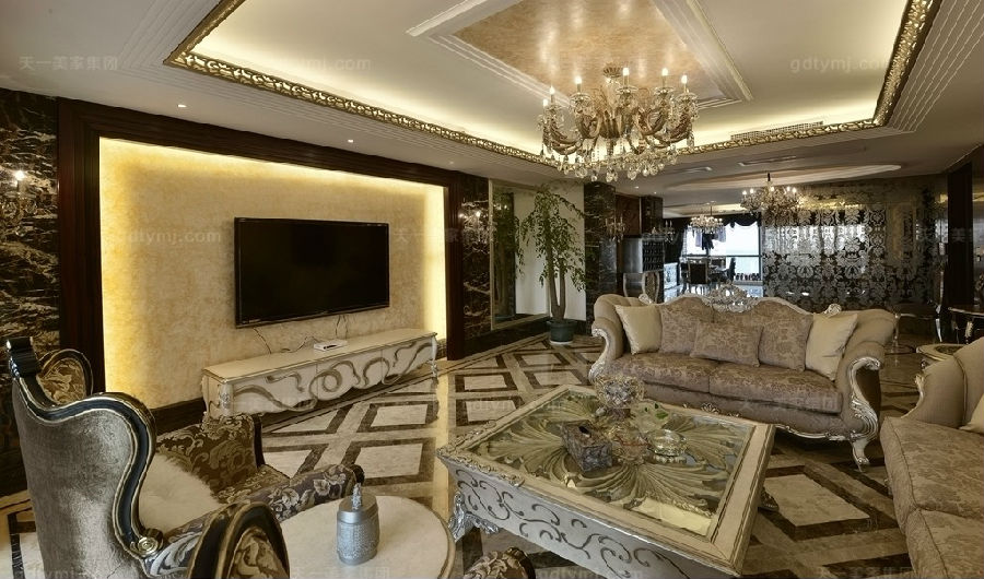 奢华新古典风客厅3