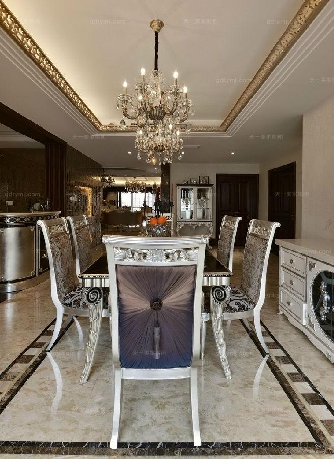 奢华新古典风餐厅1