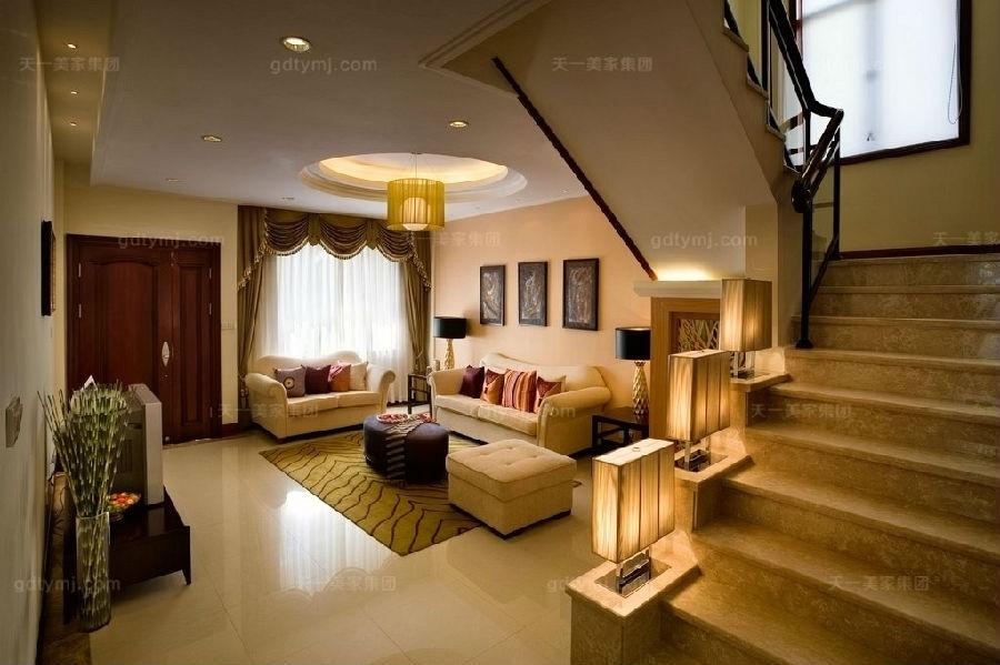 豪门别墅现代风客厅1