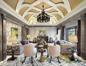 杭州绿城桃花源现代风格样板间-家具软装工程