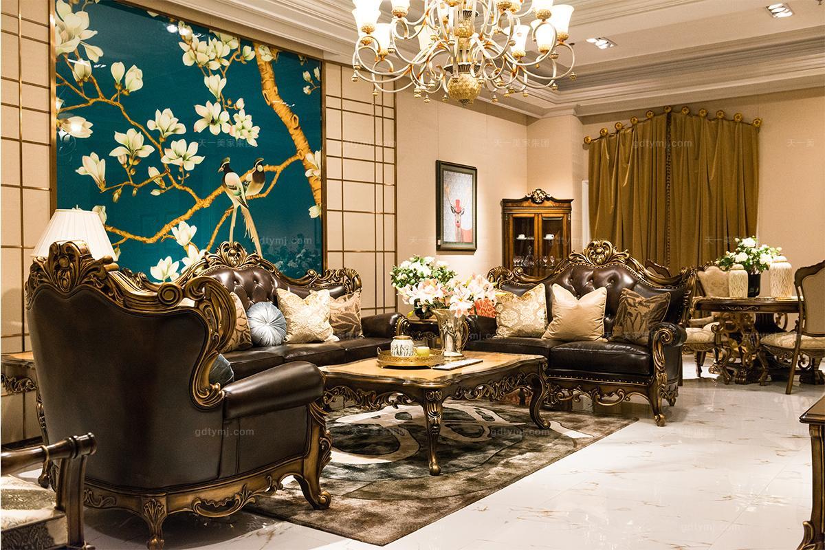 万博app手机版万博manbetx客户端美式古典客厅沙发