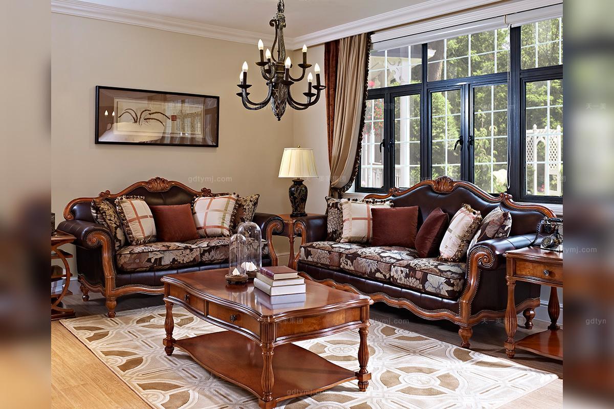 高档美式新古典客厅沙发