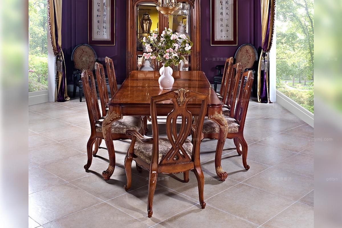 万博app手机版万博manbetx客户端顶级美式古典风格餐桌椅