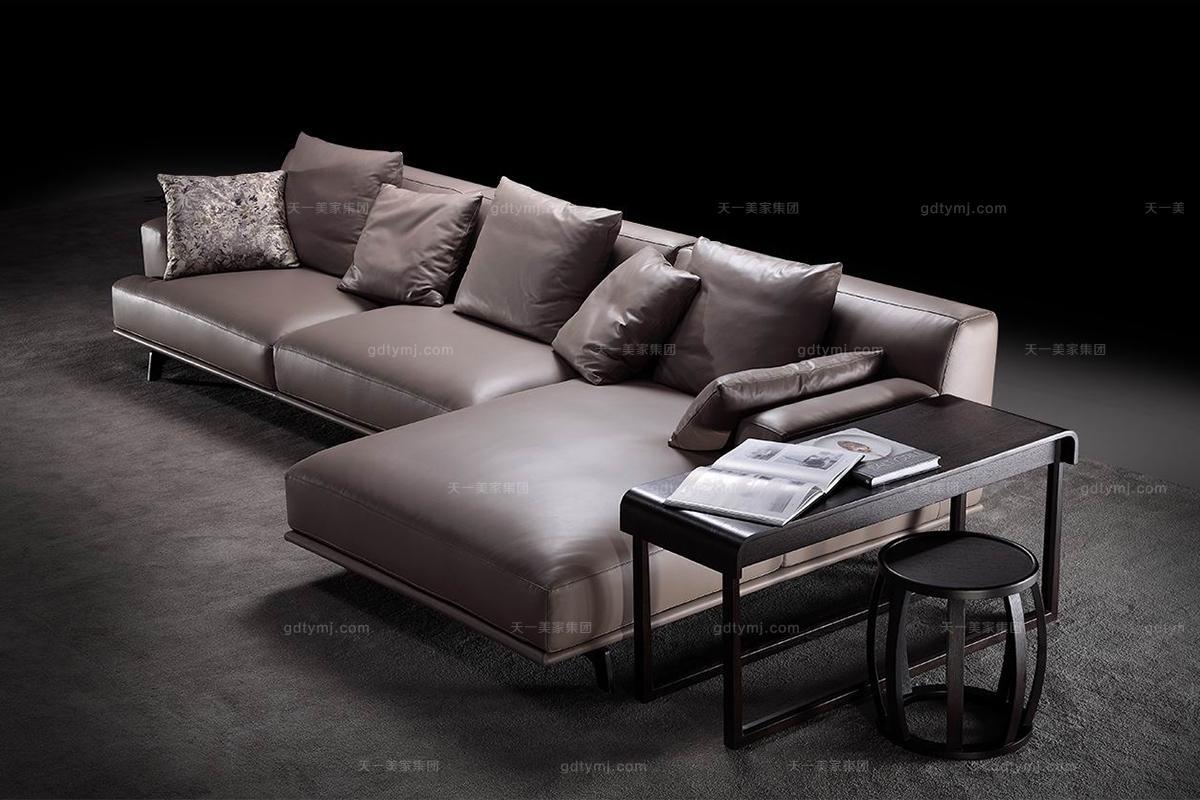 简奢万博手机网页风格转角沙发组合