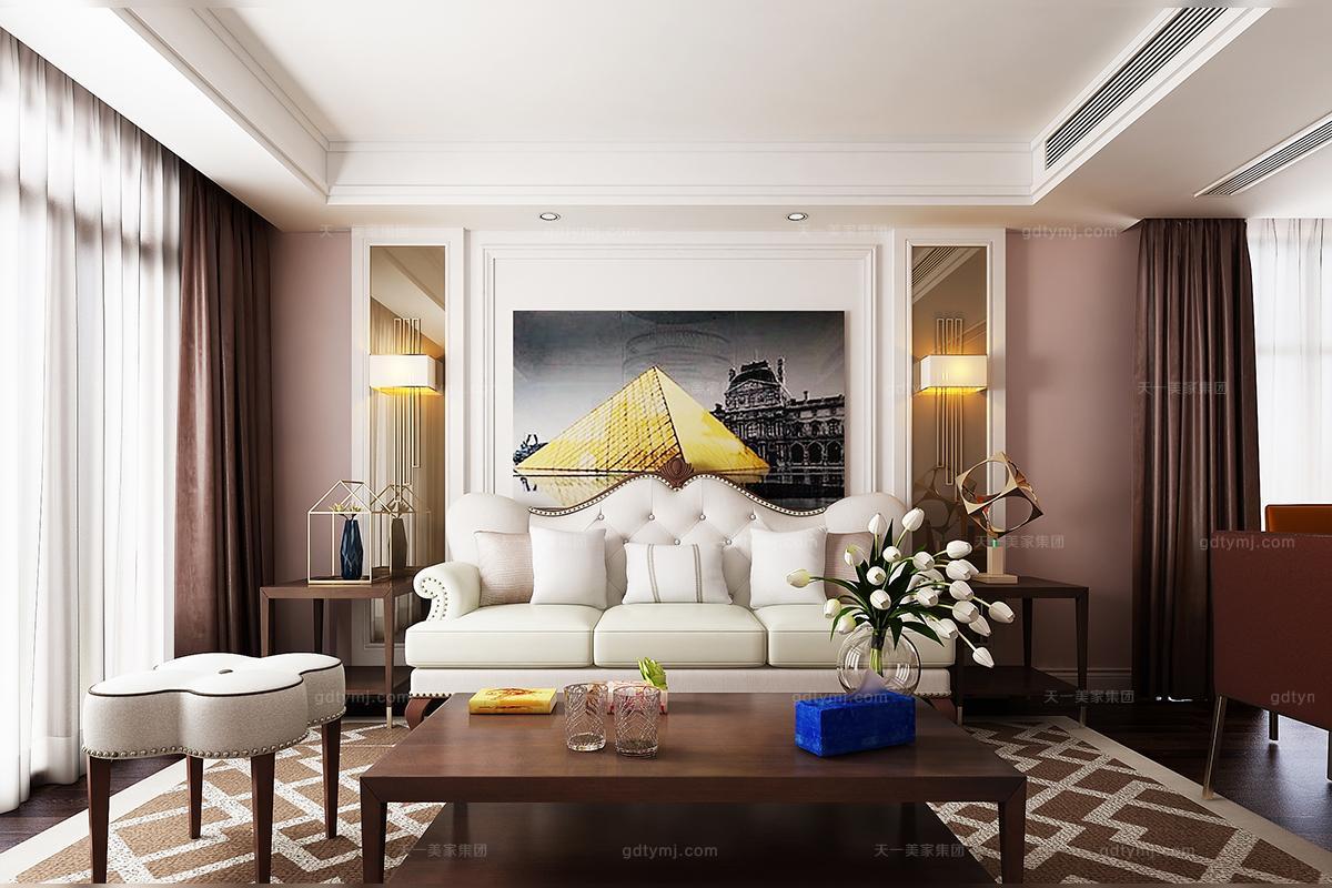 高档轻奢风格客厅沙发图片