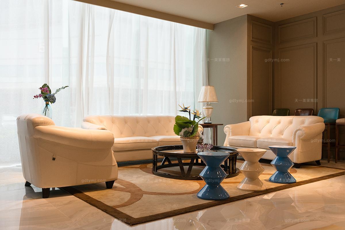 天一美家轻奢风格客厅沙发组合图片