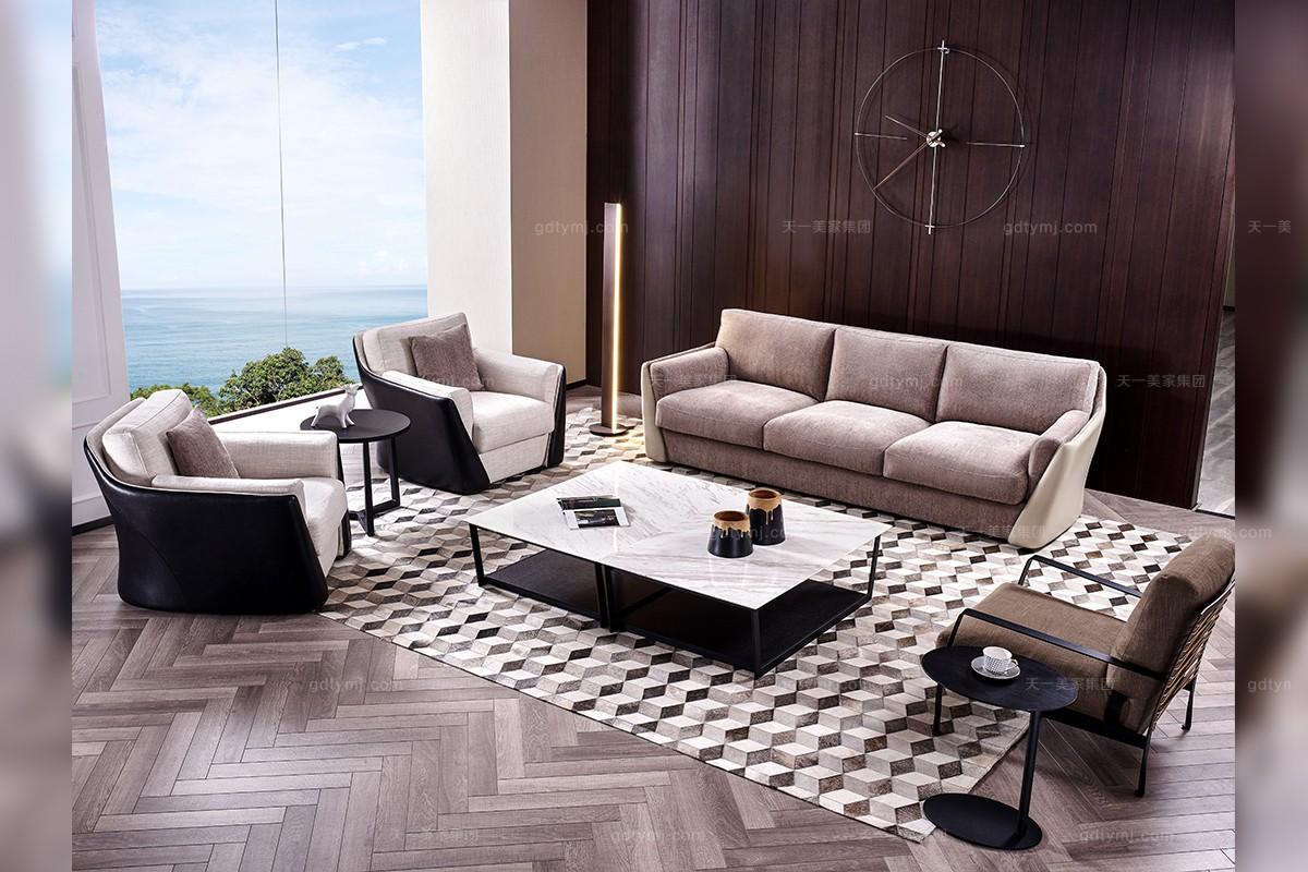 意大利极简奢主义现代风格客厅沙发