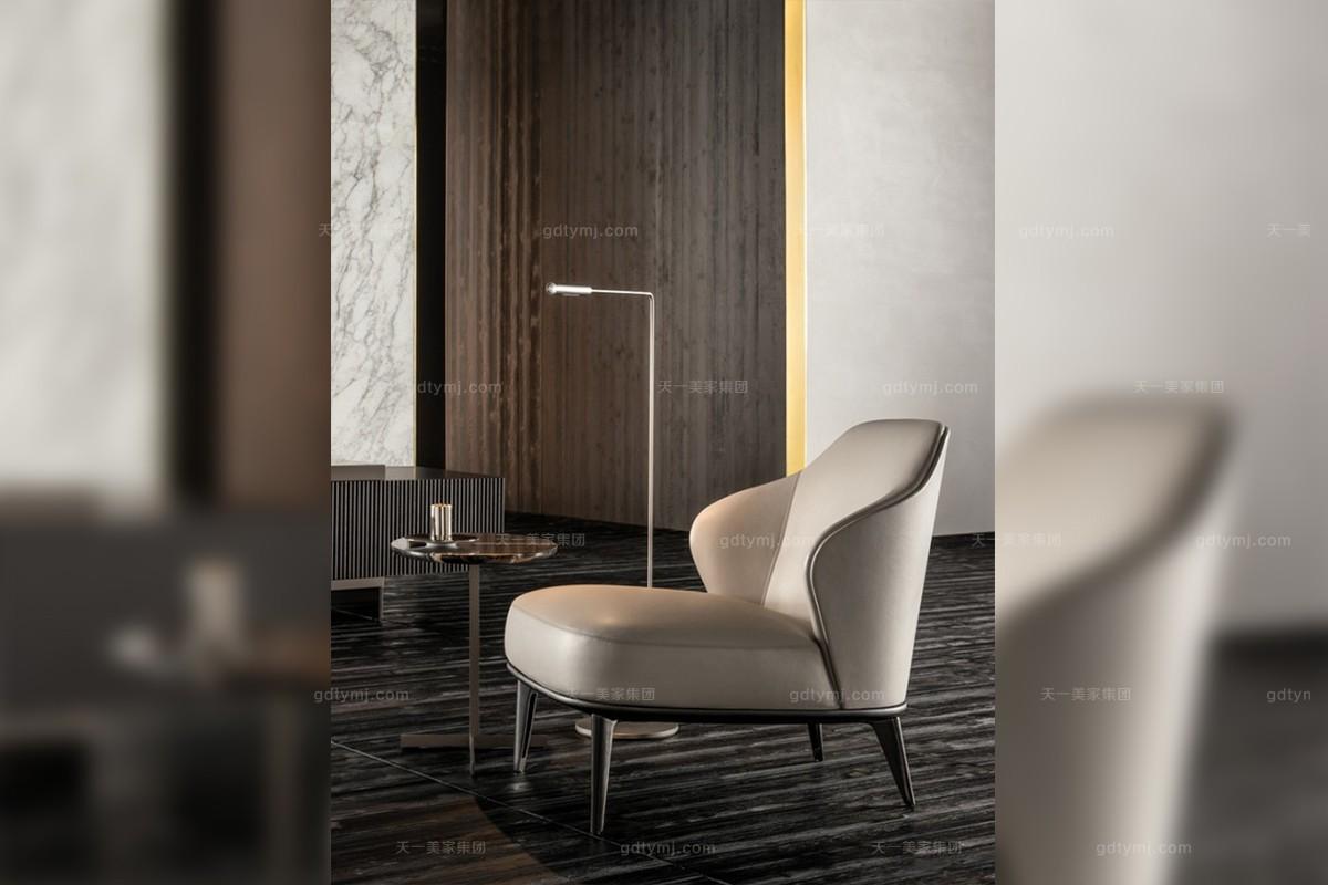 意式极简奢主义现代风格休闲椅