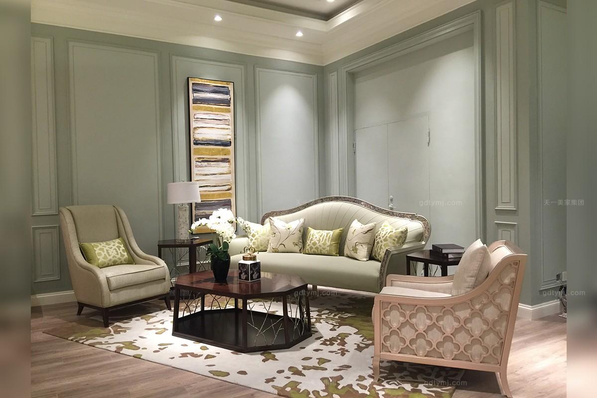 轻奢家具品牌天一美家客厅沙发