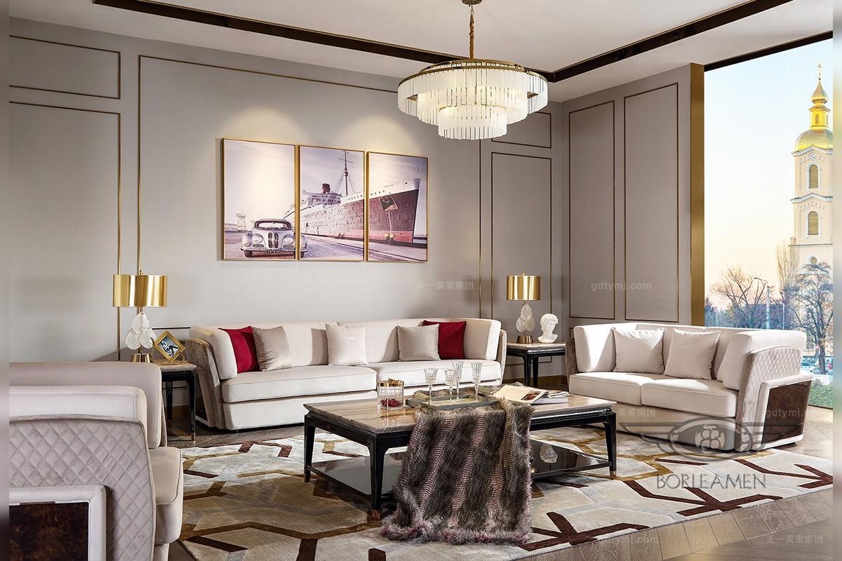 时尚后现代轻奢客厅沙发品牌