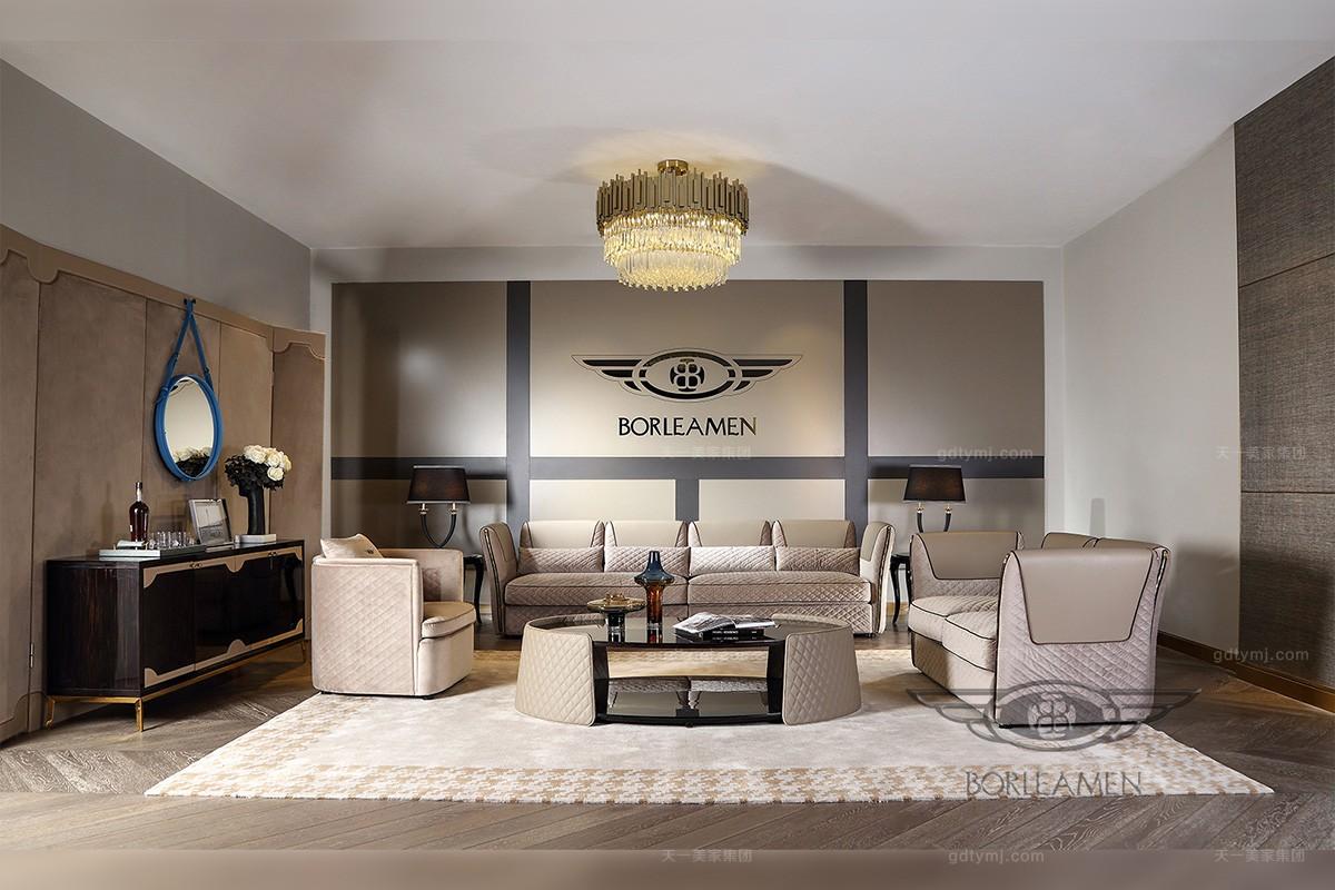 天一美家轻奢家具风格客厅沙发组合