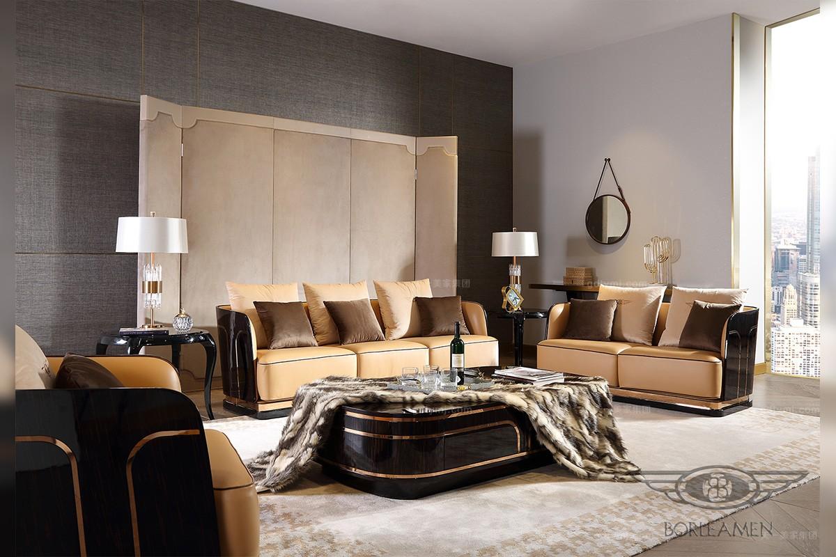 后现代轻奢风格品牌客厅沙发