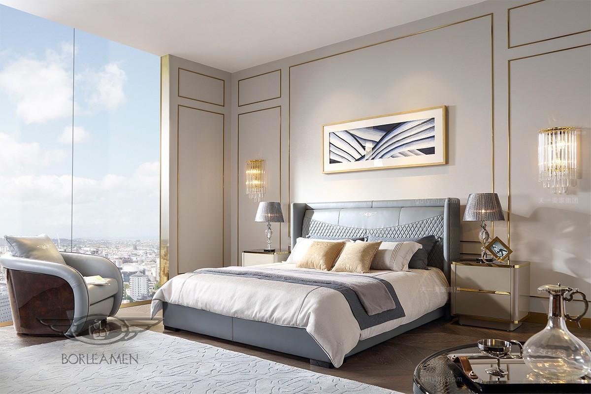 后现代轻奢家具品牌双人大床
