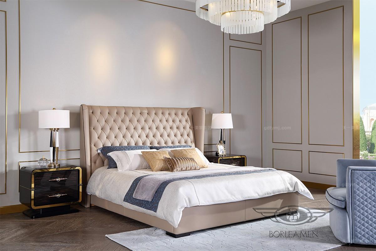 高档后现代轻奢风格家具双人大床
