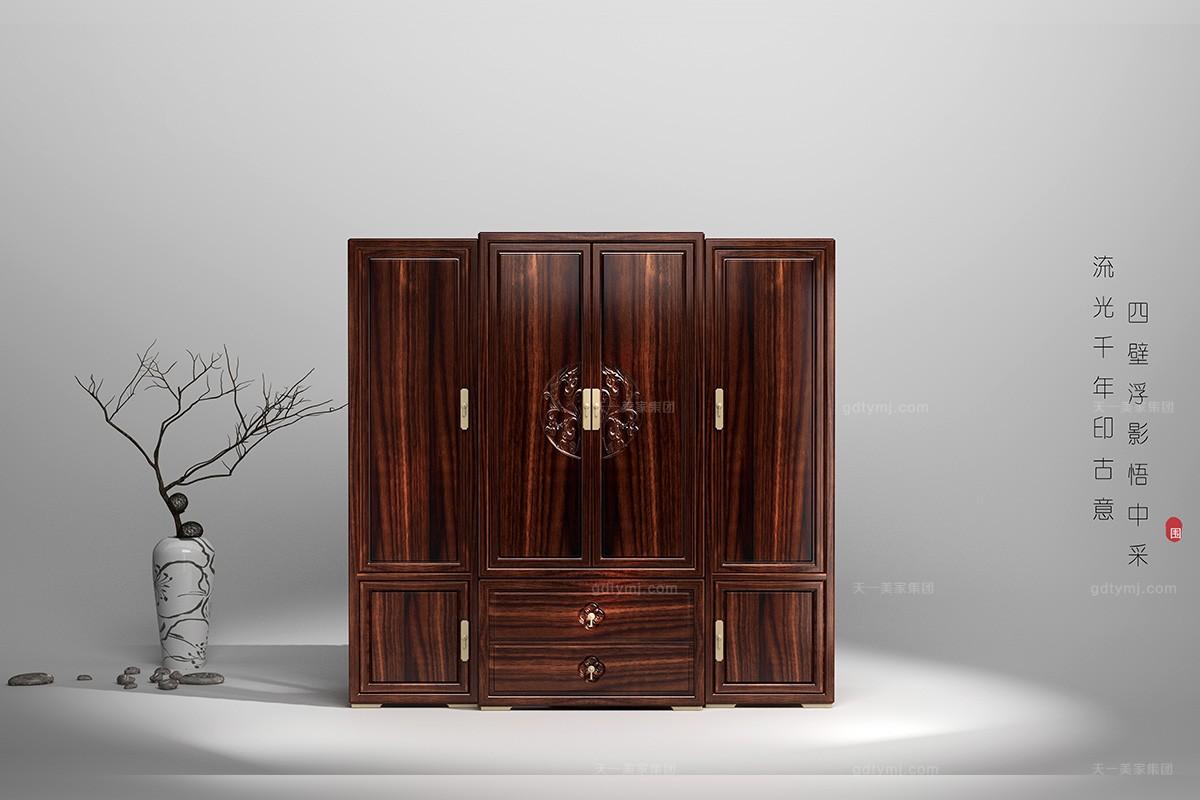 高档新中式轻奢衣柜
