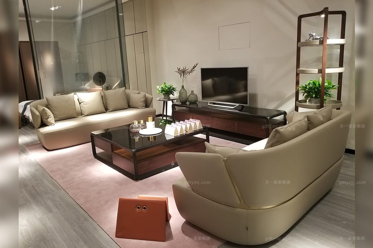 高端现代极简奢简约主义客厅沙发组合
