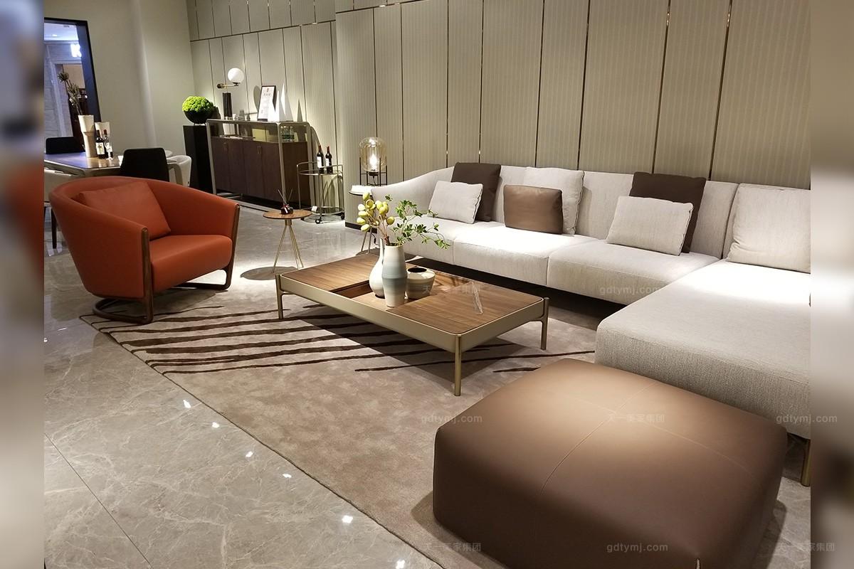 天一美家轻奢现代简约时尚客厅沙发组合