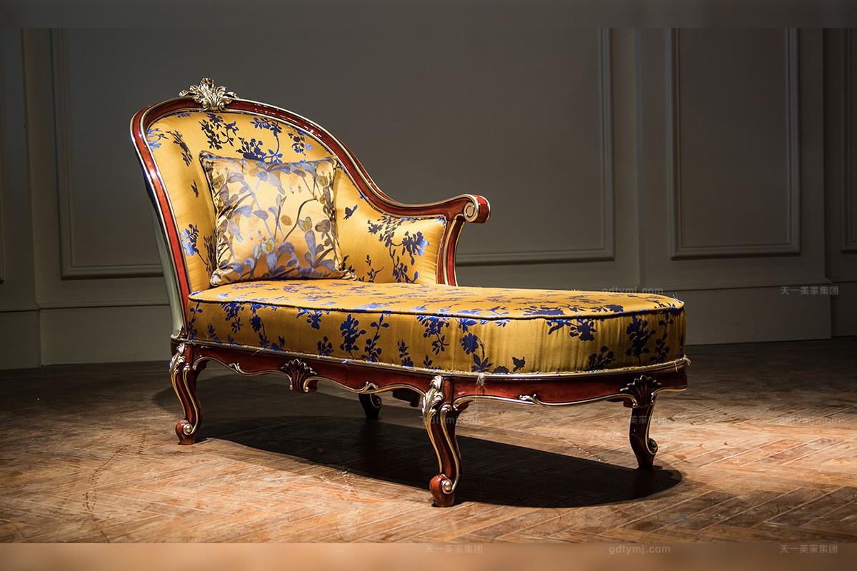 高端奢华新古典雕花贵妃椅
