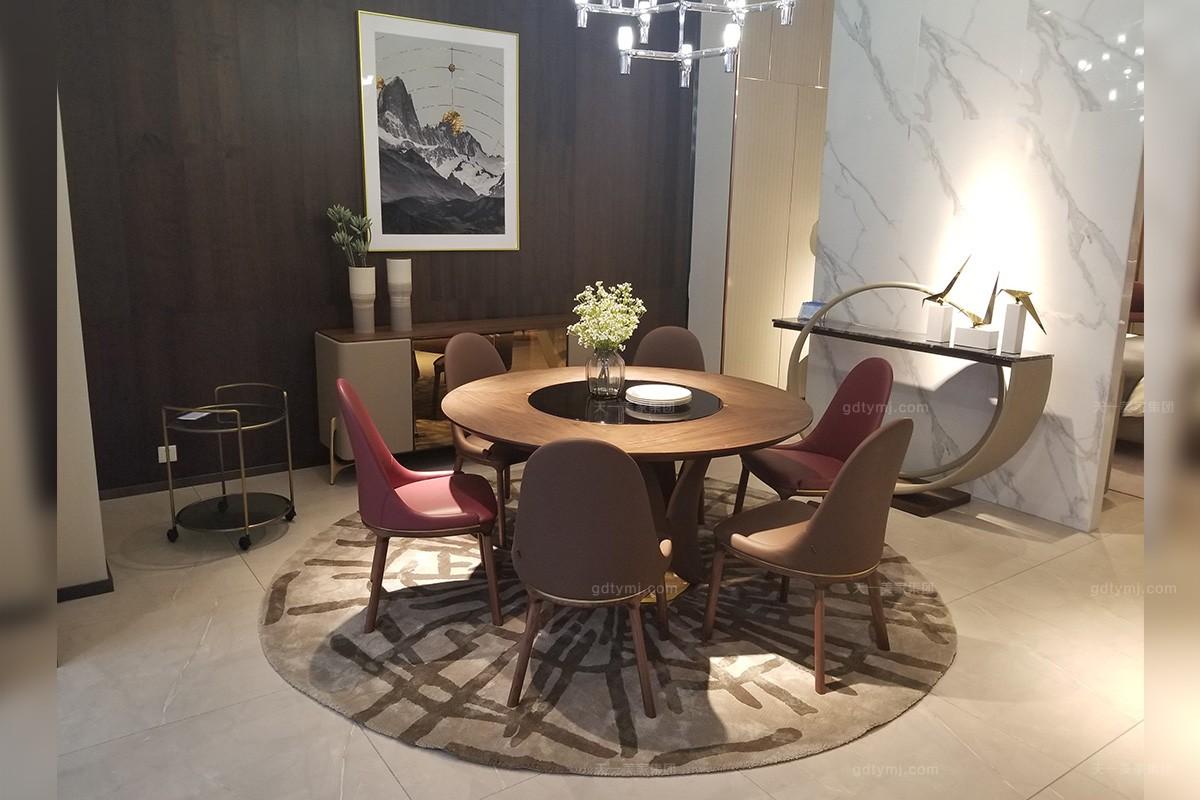 现代时尚轻奢餐桌椅组合