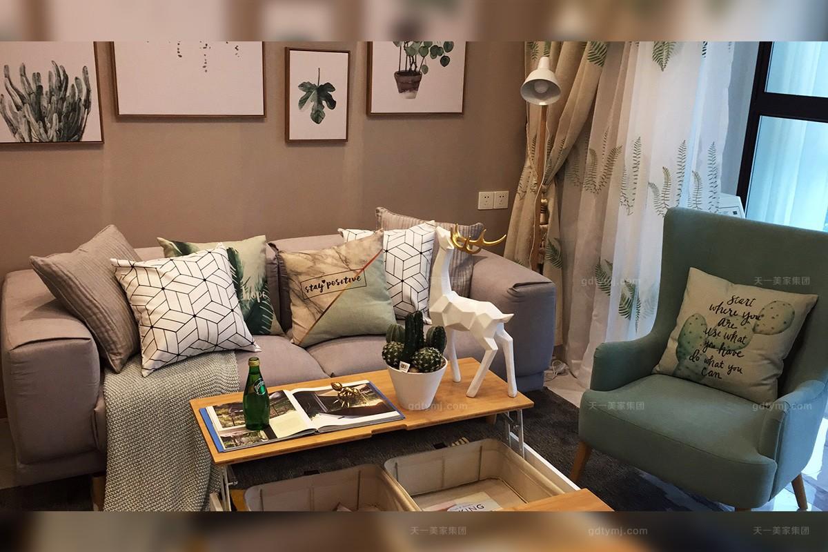 现代北欧轻奢客厅沙发
