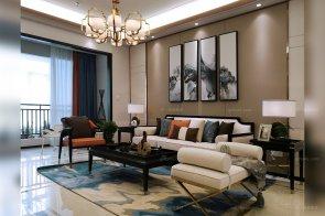 时尚新中式轻奢家具、软装工程--信阳湖东春天样板间项目88bf必发欣赏!(二)