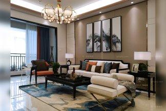 时尚新中式轻奢家具、软装工程--信阳湖东春天样板间项目案例欣赏!(二)