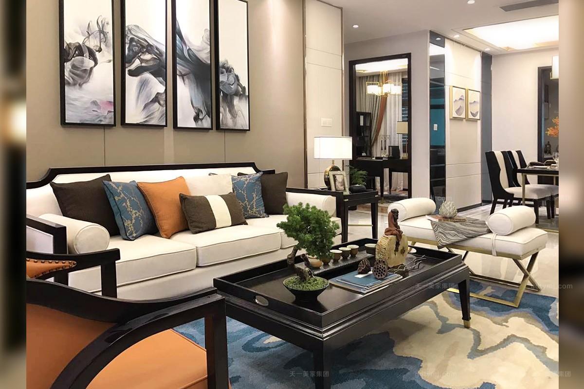 时尚新中式轻奢家具,软装工程--信阳湖东春天样板间项目案例欣赏!(二)图片