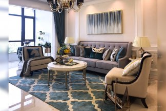 精品樣板間輕奢簡歐風格整體家具,軟裝工程--信陽湖東春天案例!(三)