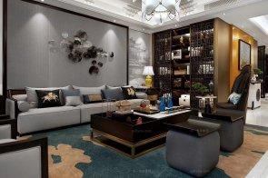 铂宫后海样板间--现代简约、新中式混搭、现代轻奢家具、软装88bf必发赏析!