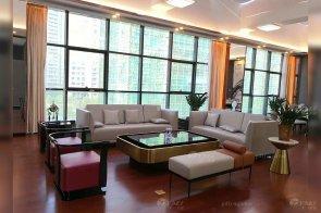 珠海崇峰一号现代高档轻奢样板间家具、软装饰品工程项目88bf必发!
