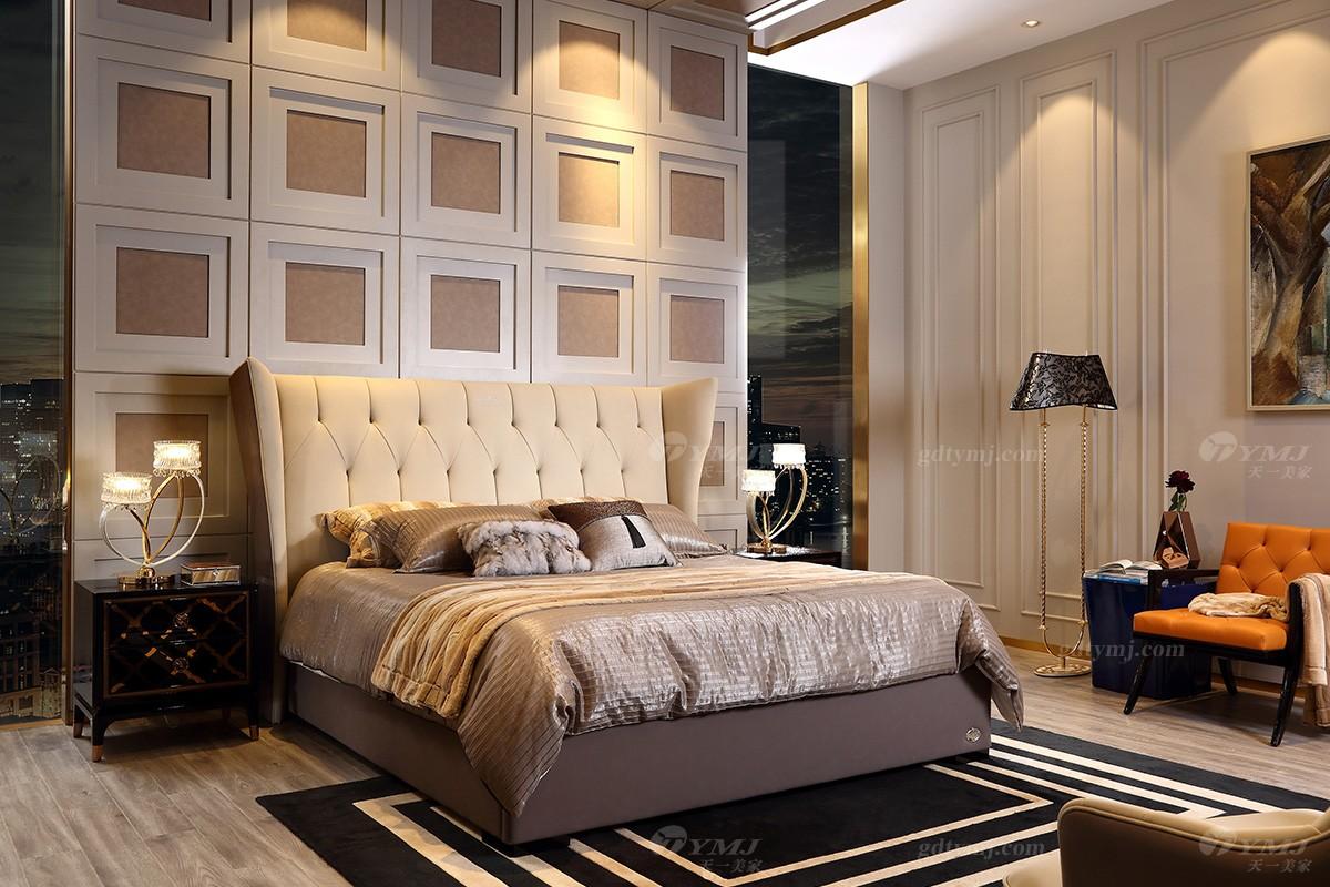 天一美家轻奢家具双人大床
