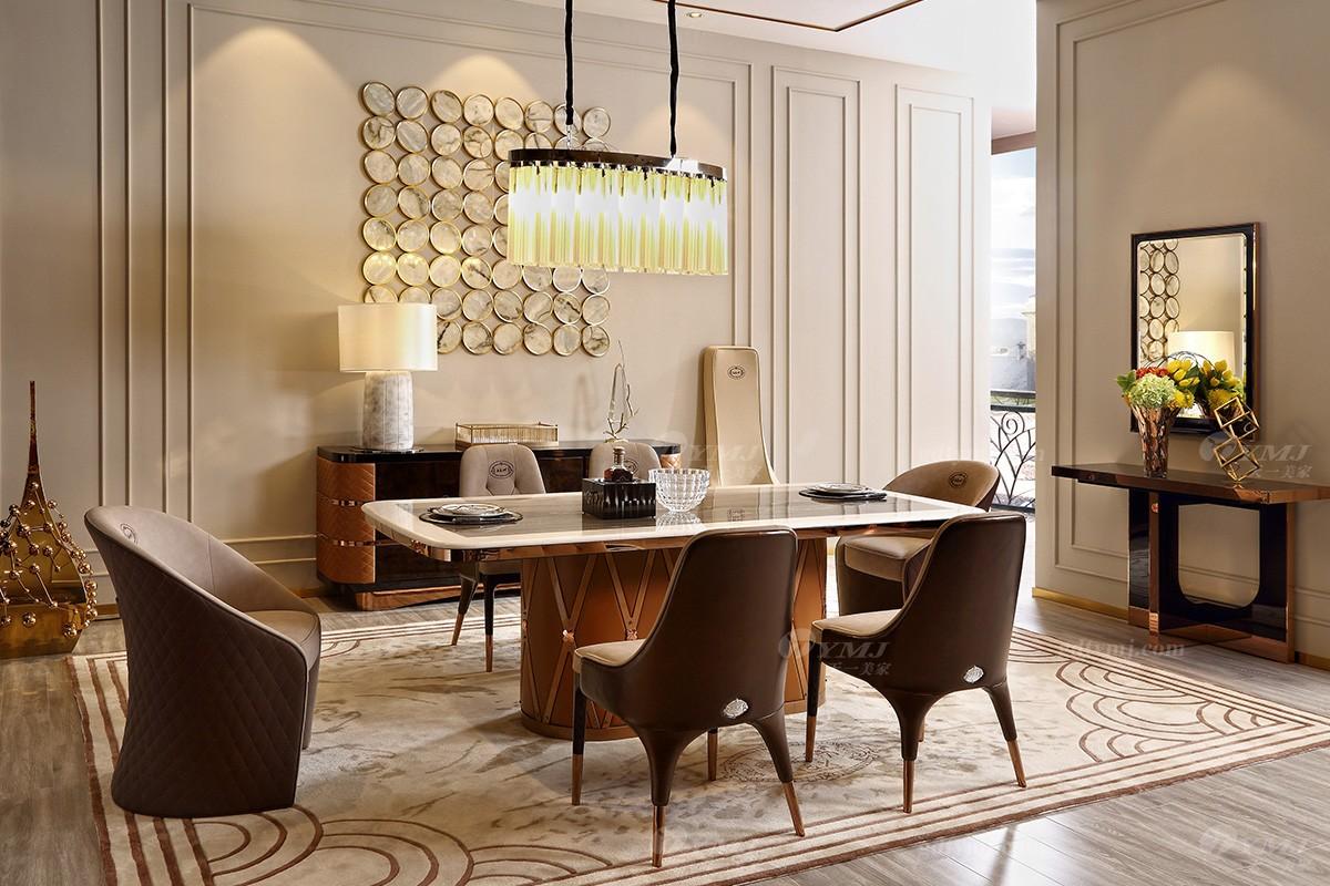 高端轻奢品牌餐桌椅组合