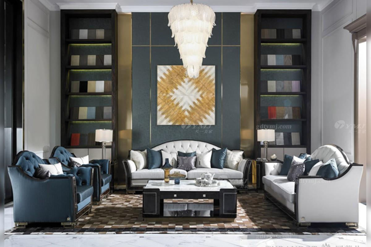 后现代轻奢家具品牌客堂沙发