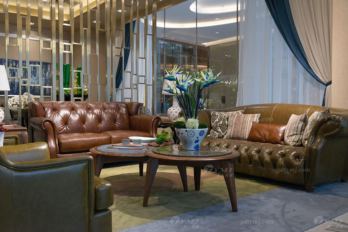 轻奢简欧风客堂正品沙发组合