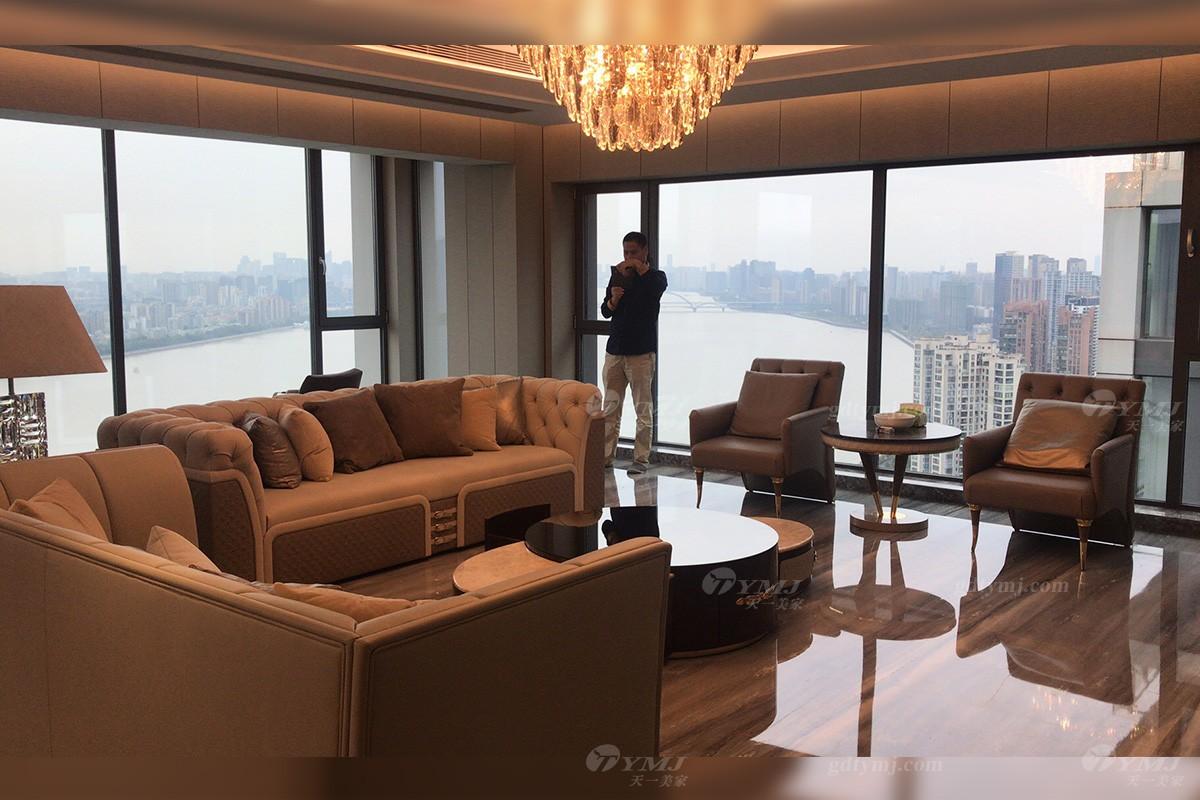客户案例意式轻奢沙发组合