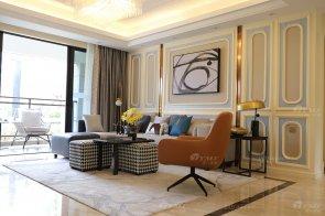 现代时尚轻奢平层样板房家具、软装饰品工程--信阳荣盛华府项目88bf必发展示(三