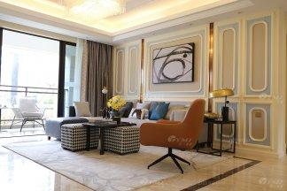 现代时尚轻奢平层样板房家具、软装饰品工程--信阳荣盛华府项目案例展示(三