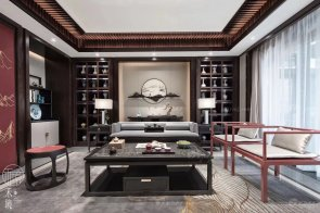 上海保亿风景水岸88bf必发娱乐样板间--新中式轻奢家具及软装工程整体88bf必发赏析!