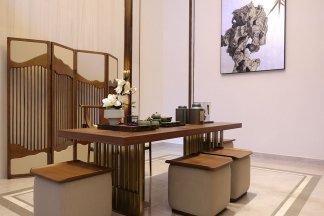 信阳固始崋壹新中式高档样板房家具、软装饰品工程项目案例展示!