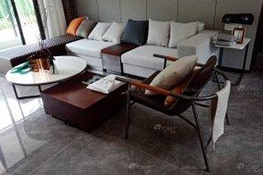 现代简约风格售楼处、样板间家具案例--赣州新旅明樾府样板间家具项目工程欣