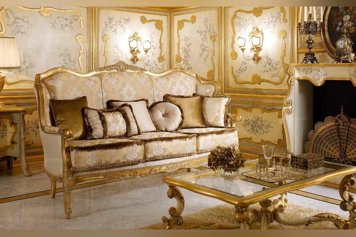 意大利实木雕刻沙发