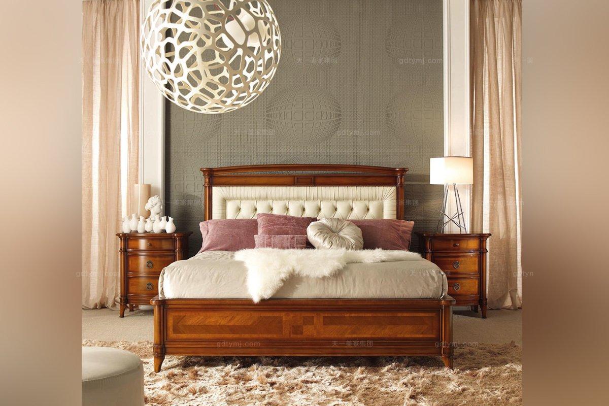 意大利美式实木床