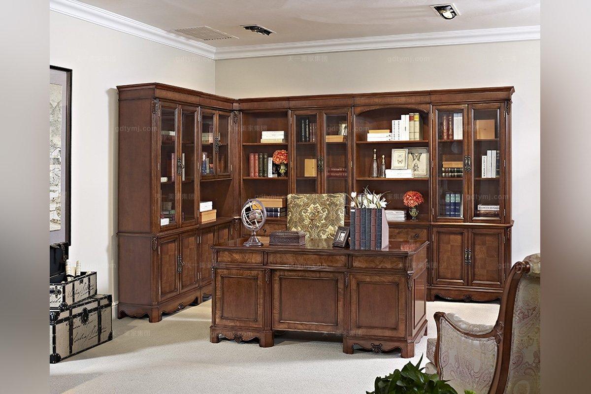 美式风格书房家具图片
