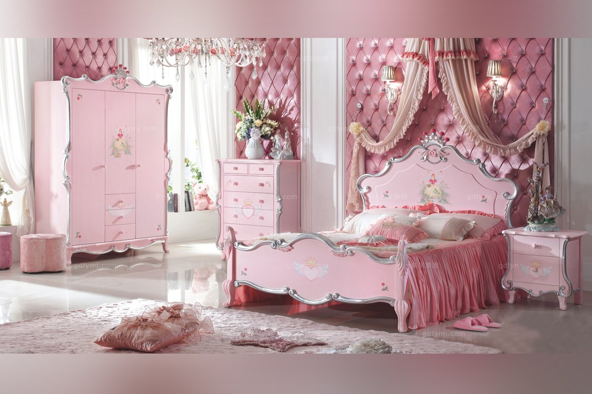 儿童家具公主床