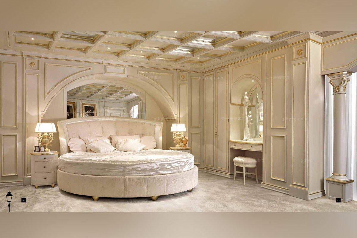 意大利白色卧室家具