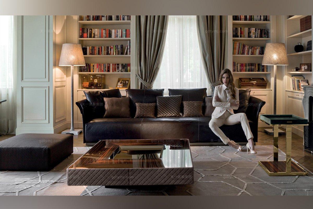 意大利进口轻奢三人沙发